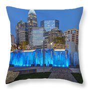 Bearden Blue Throw Pillow by Chris Austin