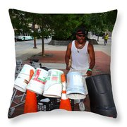 Beating The Recession Throw Pillow by James Brunker