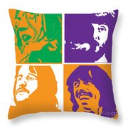 Beatles Vinil Cover Colors Project No.02 Throw Pillow by Caio Caldas