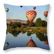 Beautiful Balloon Day Throw Pillow by Carol Groenen