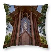 Beautiful Chapel Throw Pillow by Joan Carroll