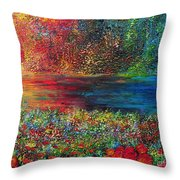 BEAUTIFUL DAY Throw Pillow by TERESA WEGRZYN