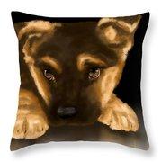 Beautiful puppy Throw Pillow by Veronica Minozzi