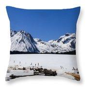 Beautiful Sawtooth Mountains Throw Pillow by Robert Bales