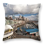 Beautiful Seattle Sky Throw Pillow by Mike Reid