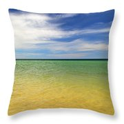 Beautiful St George Island Water Throw Pillow by Holden Parker