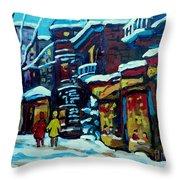 Beautiful Winter Evening Throw Pillow by Carole Spandau