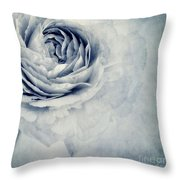 Beauty In Blue Throw Pillow by Priska Wettstein