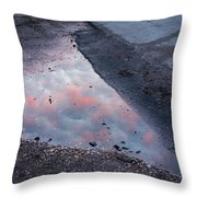 Beauty Is Everywhere - Sky Reflected In Puddle Of Water Throw Pillow by Matthias Hauser