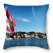 Beauty of Lucerne Throw Pillow by Mountain Dreams