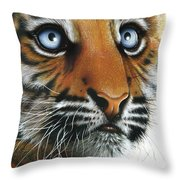 Beauty Of My Mother's Eyes Throw Pillow by Jurek Zamoyski