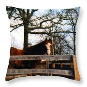 Beauty Waiting Throw Pillow by Kay Novy