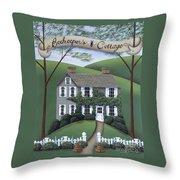 Beekeeper's Cottage Throw Pillow by Catherine Holman