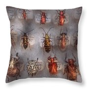 Beetles - The usual suspects  Throw Pillow by Mike Savad