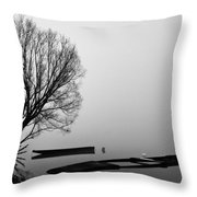 Beginning Of The End Throw Pillow by Davorin Mance