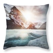 Beginning To Thaw Throw Pillow by Kym Clarke