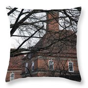 Behind Trees -- The British Ambassador's Residence Throw Pillow by Cora Wandel