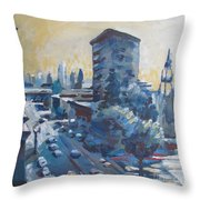 Belding Building View Throw Pillow by Vanessa Hadady BFA MA