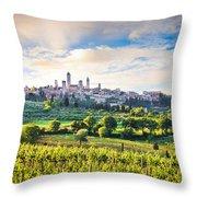 Bella Toscana Throw Pillow by JR Photography