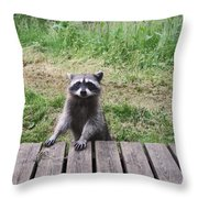 Belly Up To The Bar Throw Pillow by Kym Backland