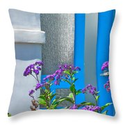 Belmont Shore Blue Throw Pillow by Gwyn Newcombe