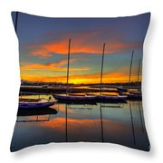 Bembridge Redwings Throw Pillow by English Landscapes