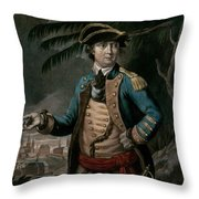Benedict Arnold Throw Pillow by English School