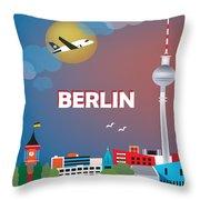 Berlin Throw Pillow by Karen Young