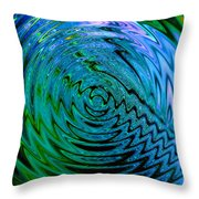 Bermuda Blue Throw Pillow by Michael Durst