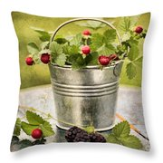 Berries Throw Pillow by Darren Fisher