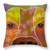 Best Friend Throw Pillow by Roger Wedegis
