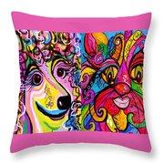 Best Friends Throw Pillow by Eloise Schneider
