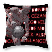 Best Painters Of All Time In Western Painting Throw Pillow by Sir Josef  Putsche Social Critic
