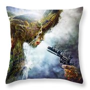 Betrayal Throw Pillow by Mario Sanchez Nevado