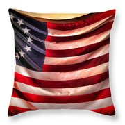 Betsy Ross Flag Throw Pillow by Olivier Le Queinec