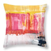 Better Days- Large Abstract Throw Pillow by Linda Woods