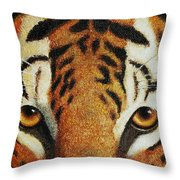 Beware Throw Pillow by Crista Forest