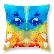 Big Blue Love - Visionary Art By Sharon Cummings Throw Pillow by Sharon Cummings