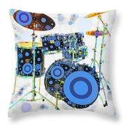Big Boom Bullseye Throw Pillow by Russell Pierce