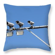 Big Brother Throw Pillow by Michal Boubin