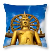 Big Buddha Throw Pillow by Adrian Evans