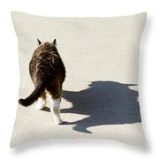Big Cat Ferocious Shadow Throw Pillow by James BO  Insogna