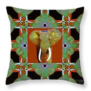 Big Elephant Abstract Window 20130201p20 Throw Pillow by Wingsdomain Art and Photography