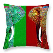 Big Elephant Six 20130201 Throw Pillow by Wingsdomain Art and Photography