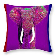 Big Elephant Three 20130201v2 Throw Pillow by Wingsdomain Art and Photography