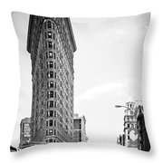 big in the big apple - bw Throw Pillow by Hannes Cmarits