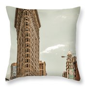 Big In The Big Apple Throw Pillow by Hannes Cmarits