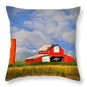 Big Red Barn Throw Pillow by Marty Koch