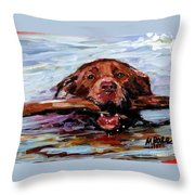 Big Stick Throw Pillow by Molly Poole