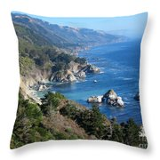 Big Sur Coast Ca Throw Pillow by Debra Thompson
